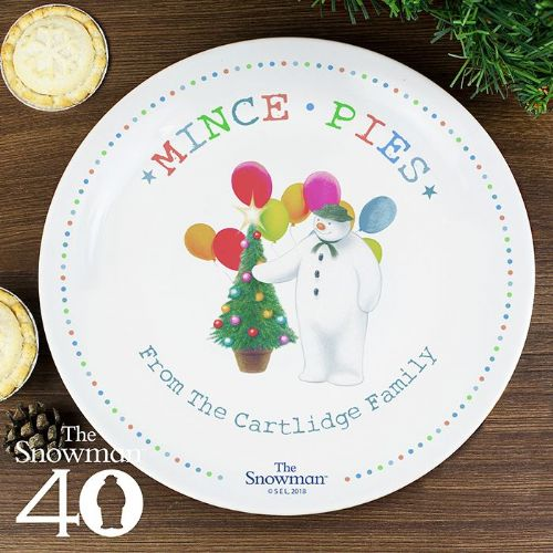 Personalised The Snowman Mince Pie Plate